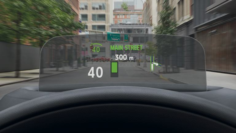 MINI Clubman – Head-up display